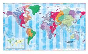 Map Of The World Showing Countries by Mapsherpa Cosmographics