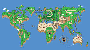 World Map Wallpaper Super Mario World Map 820794 Walldevil