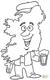 map of ireland coloring page kids coloring