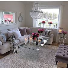 Beautiful Neutral Living Room With A Pop Of Color Interior - Romantic living room decor