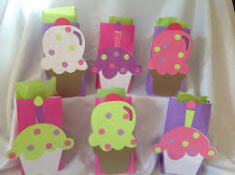 ice cream cupcake party goody bags large image 10 count 25 00