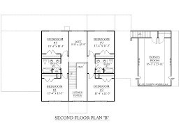 Floor Plan Of A 2 Story House Houseplans Biz House Plan 3397 B The Albany B