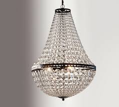 The Crystal Chandelier Crystal Beach Mia Faceted Crystal Chandelier Pottery Barn