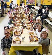 lehman jackson elementary school students hold thanksgiving feast