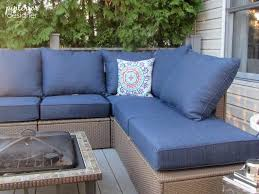 Thick Patio Furniture Cushions The Ikea Cushions Are Kinda Chintzy But I Love How Chelsea At