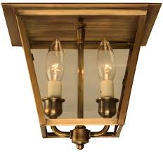 flush mount lantern light carolina colonial electric copper ceiling lantern light
