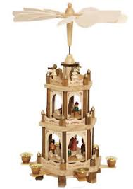 german pyramid nativity play 3 tier carousel 18 with 6