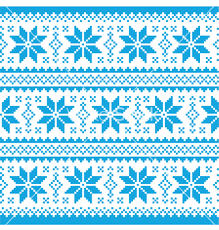 traditional ornamental knitted pattern vector