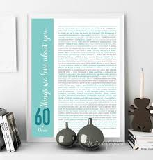 60 things for 60th birthday 60th birthday gift for gift for women 60 things we