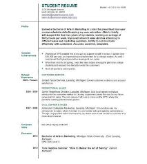 resume format for first job first resume 18 sample first resume