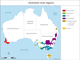 Map Of Queensland Australia Map Of Vineyards Wine Regions