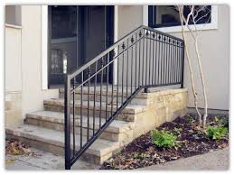 Home Depot Banister Rails Stairs Astonishing Outdoor Metal Stair Railing Exterior Wrought