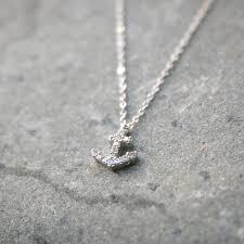 swarovski necklace white gold images White gold swarovski anchor necklace sterling silver jpg