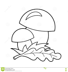coloring page outline of cartoon mushrooms summer gifts of nature