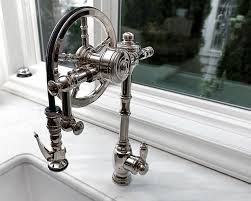 waterstone wheel pulldown in polished nickel kitchen design by