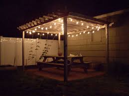 backyard patio with pergola simple way to highlight the picnic