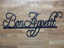 bon appetit sign metal wall art home restaurant decor 37