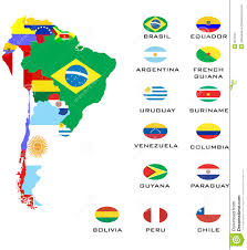 South America Map Outline by South America Map Infographic Template Jigsaw Concept Banner