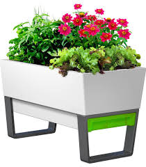raised planter white contemporary outdoor pots and planters