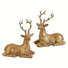 Christmas Decorations With Reindeer by Christmas Decorations Reindeer Ebay