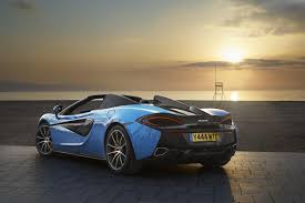 lexus lfa kopen mclaren 570s spider 2018 blue car front view 4k wallpaper
