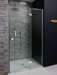 design hinged shower door with inline panel in design luxury