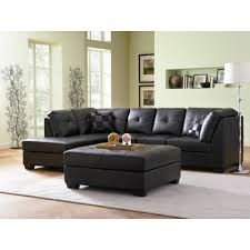 coaster darie leather sectional sofa with left side chaise