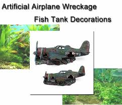 decoration resin wreck plane airplane wreckage artificial craft