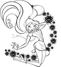 princess bloom happy face winx club coloring pages batch coloring