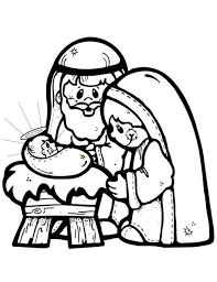 nativity scene clipart black white clipartxtras