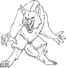 werewolf coloring pictures in halloween pages shimosoku biz