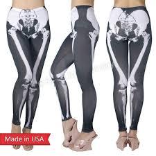 skeleton x ray bone legs print halloween spooky leggings tights