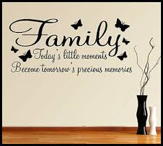family wall sticker quote words phrases sayings home decor diy