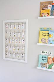 best 25 alphabet wall art ideas on pinterest alphabet wall cute ideas for nursery walls love the book display and framed alphabet letters