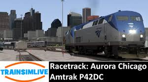 Amtrak Interactive Map by Train Simulator 2015 Racetrack Aurora Chicago Amtrak P42dc