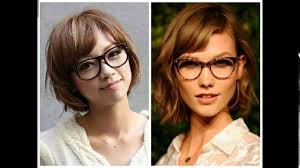 short haircuts for girls with glasses youtube