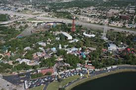 Six Flags Fort Worth Six Flags Over Texas Aerial Views