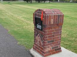 attractive design of brick mailboxes to fits your needs and budget