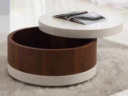 remarkable round coffee table with storage ottomans with chic