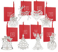 lenox set of 8 silver plated ornaments with gift boxes page 1