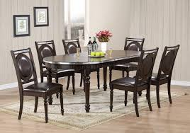 Global Furniture Dining Room Sets D4284dt Dining Set 5pc In Dark Brown By Global W Options