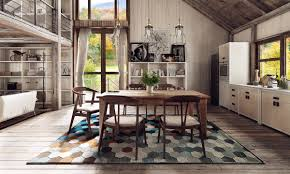 types of white dining room concept design combine with wooden