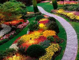 backyard flower garden ideas on classic wonderful colourful round