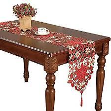 amazon com simhomsen christmas holiday poinsettia lace table