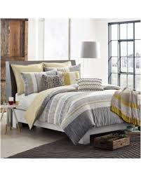 slash prices on kas room logan king duvet cover in grey yellow