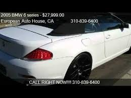 2005 bmw 645i review 2005 bmw 6 series 645ci convertible for sale in los angele
