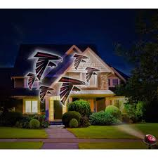 Christmas Lights Projector On House by Holiday Outdoor Christmas Football Nfl Atlanta Falcons Light Show