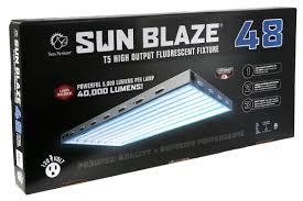 sun blaze 48 4 foot 8 lamp t5 fluorescent system