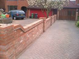 front garden brick wall designs rail and gate london red brick