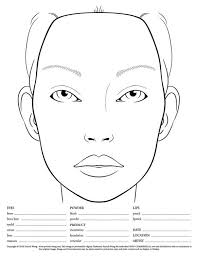 50 blank face charts images makeup face charts